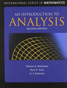 An Introduction to Analysis, 2/e (Hardcover)-cover