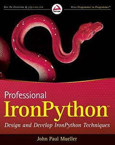 Professional IronPython (Paperback)-cover