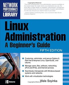 Linux Administration: A Beginner's Guide, 5/e (Paperback)-cover