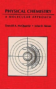 Physical Chemistry: A Molecular Approach (Hardcover)-cover