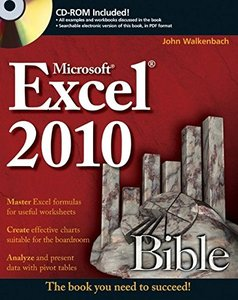 Excel 2010 Bible (Paperback)-cover