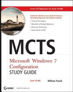 MCTS Windows 7 Configuration Study Guide: Exam 70-680 (Paperback)-cover