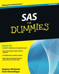 SAS For Dummies, 2/e (Paperback)-cover