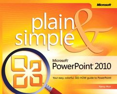Microsoft PowerPoint 2010 Plain & Simple (Paperback)-cover
