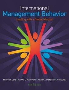 International Management Behavior: Leading with a Global Mindset, 6/e (Paperback)-cover