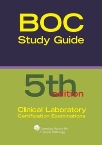 Board of Certification Study Guide for Clinical Laboratory Certification Examinations, 5/e (Paperback)-cover
