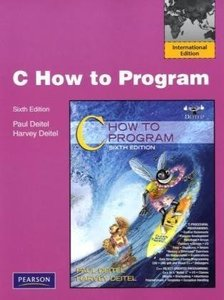 C How to program, 6/e (IE-Paperback)-cover