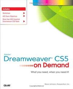 Adobe Dreamweaver CS5 on Demand (Paperback)-cover