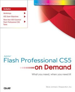 Adobe Flash Professional CS5 on Demand (Paperback)-cover