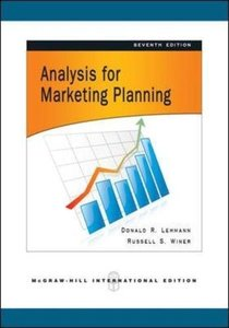 Analysis for Marketing Planning, 7/e (IE-Paperback)-cover