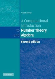 A Computational Introduction to Number Theory and Algebra, 2/e (Hardcover)-cover