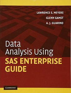 Data Analysis Using SAS Enterprise Guide (Paperback)-cover
