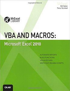 VBA and Macros: Microsoft Excel 2010 (Paperback)-cover