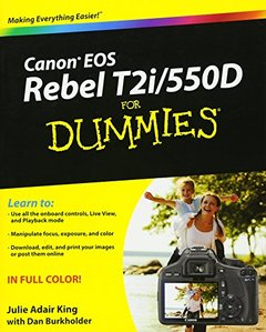 Canon EOS Rebel T2i/550D For Dummies (Paperback)-cover