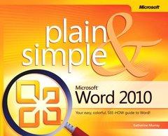 Microsoft Word 2010 Plain & Simple (Paperback)-cover