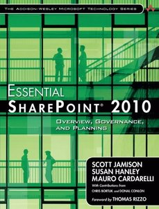 Essential SharePoint 2010, 2/e : Overview, Governance, and Planning (Paperback)-cover