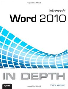Microsoft Word 2010 In Depth (Paperback)-cover