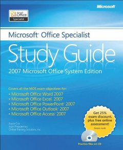 The Microsoft Office Specialist Study Guide (Paperback)-cover