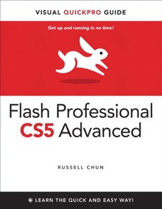 Flash Professional CS5 Advanced for Windows and Macintosh: Visual QuickPro Guide (Paperback)-cover