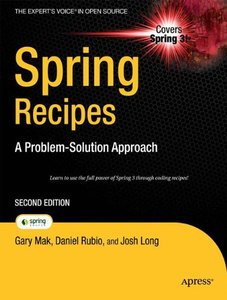 Spring Recipes: A Problem-Solution Approach, 2/e (Paperback)-cover
