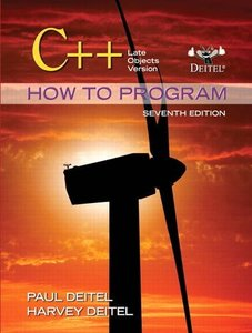 Late Objects Version: C++ How to Program (7th Edition)