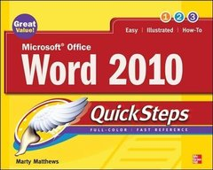 Microsoft Office Word 2010 QuickSteps-cover