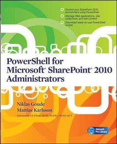 PowerShell for Microsoft SharePoint 2010 Administrators (Paperback)-cover