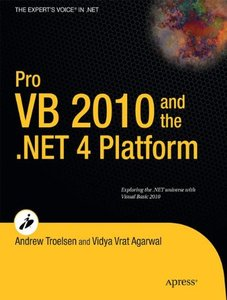 Pro VB 2010 and the .NET 4.0 Platform (Paperback)-cover