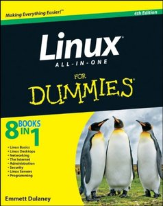 Linux All-in-One For Dummies, 4/e (Paperback)-cover