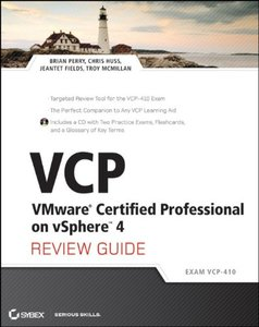 VCP VMware Certified Professional on vSphere 4 Review Guide: (Exam VCP-410) (Paperback)-cover