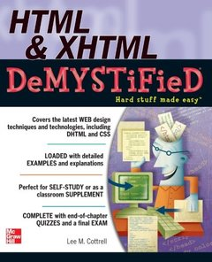 HTML & XHTML DeMYSTiFieD (Paperback)-cover
