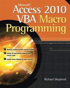 Microsoft Access 2010 VBA Macro Programming (Paperback)-cover