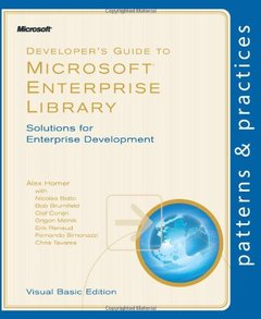 Developer's Guide to Microsoft Enterprise Library, Visual Basic Edition (Paperback)-cover