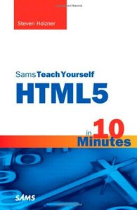 Sams Teach Yourself HTML5 in 10 Minutes, 5/e (Paperback)-cover