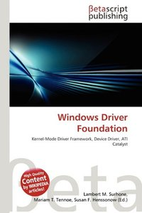 Windows Driver Foundation (Paperback)-cover