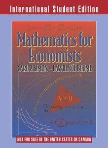 Mathematics for Economists (Paperback)-cover