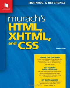 Murach's HTML, XHTML, and CSS (Paperback)-cover