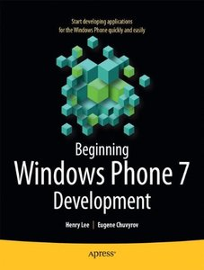 Beginning Windows Phone 7 Development (Paperback)-cover