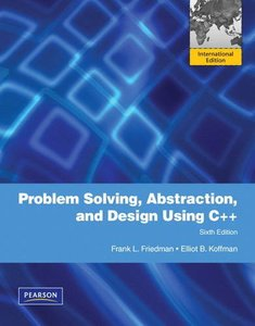 Problem Solving, Abstraction, and Design using C++, 6/e (IE-Paperback)