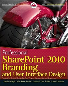 Professional SharePoint 2010 Branding and User Interface Design (Paperback)-cover