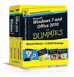 Windows 7 and Office 2010 For Dummies, Book + DVD Bundle (Paperback)-cover