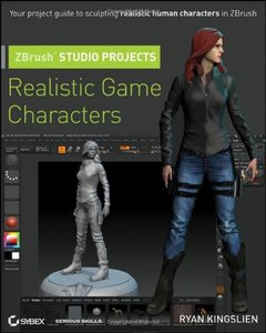 ZBrush Studio Projects: Realistic Game Characters (Paperback)-cover