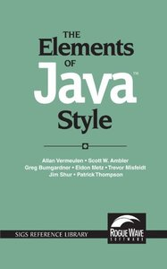 The Elements of Java Style (Paperback)