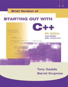 Starting Out with C++: Brief Version Update, 4/e (Paperback)-cover