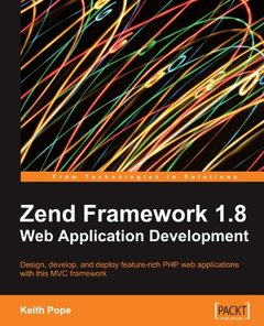Zend Framework 1.8 Web Application Development (Paperback)-cover