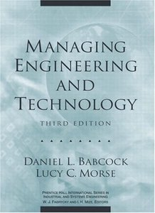 Managing Engineering and Technology, 3/e (Hardcover)-cover