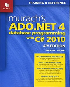 Murach's ADO.NET 4 Database Programming with C# 2010, 4/e (Paperback)-cover