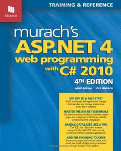 Murach's ASP.NET 4 Web Programming with C# 2010, 4/e (Paperback)-cover