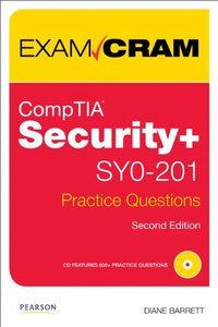 CompTIA Security+ SY0-201 Practice Questions Exam Cram, 2/e (Paperback)-cover