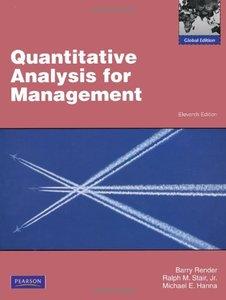 Quantitative Analysis for Management, 11/e (IE-Paperback)